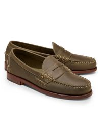 Brooks Brothers - Green Rancourt Co Beef Roll Penny Loafers for Men - Lyst
