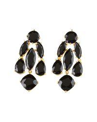 kate spade new york - Black Kate Spade Statement Earrings - Lyst