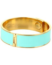 kate spade new york - Blue Locked in Thin Bangle - Lyst
