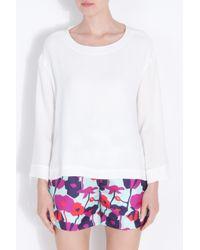 Roksanda | White Vero Silk Top | Lyst