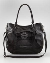 Tory Burch   Black Amanda Patent Classic Hobo Bag   Lyst