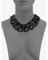 Tory Burch - Black Graduated Link Chain Necklace - Lyst