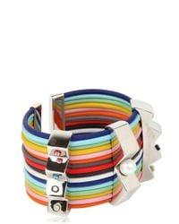 Delfina Delettrez - Multicolor Infinity Silver and Rubber Bracelet for Men - Lyst