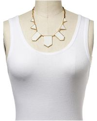 House of Harlow 1960 | White Stone And Pave Pendant Necklace | Lyst