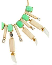 House of Lavande - Green Everglades Wood Collar Necklace - Lyst