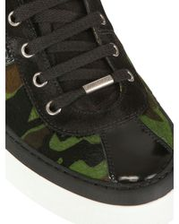 Jimmy Choo   Green Camouflage Pony Skin High Top Sneakers for Men   Lyst