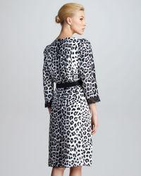 Marc Jacobs | Gray Belted Leopardprint Dress | Lyst
