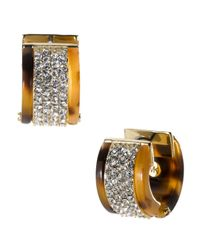 Michael Kors | Metallic Pave Huggie Earrings | Lyst
