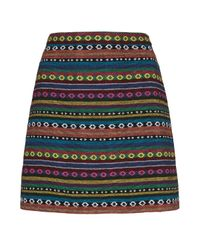 TOPSHOP - Multicolor Freerider Print Mini Skirt - Lyst