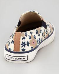 Tory Burch - Multicolor Miles Canvas Slipon Sneaker Floral Pattern - Lyst