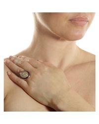 Olivia Collings - Yellow Diamond Enamel Oval Ring - Lyst