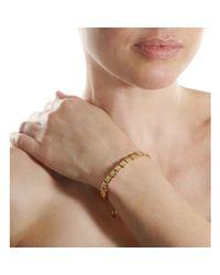 Shamballa Jewels - Natural Diamond Gold Flat Bead Bracelet - Lyst