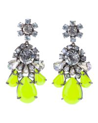 Shourouk | Yellow Crystal Earring | Lyst