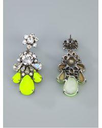 Shourouk   Yellow Crystal Earring   Lyst