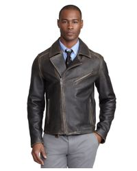 Brooks Brothers | Black Motorcycle Jacket for Men | Lyst