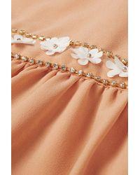 TOPSHOP Natural Peter-pan Flower Flippy Dress