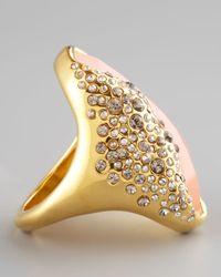 Alexis Bittar - Metallic Rose Quartz Ring - Lyst