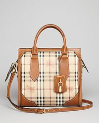 Burberry - Brown Satchel Small Honeywood - Lyst
