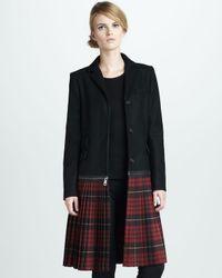 McQ | Black Tartan-Sweep Crombie Coat | Lyst