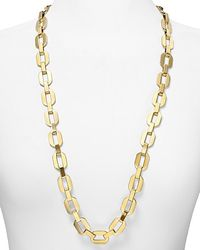 Michael Kors | Metallic Gold Long Link Necklace | Lyst