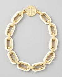 Tory Burch | Metallic Heidi Link Necklace | Lyst