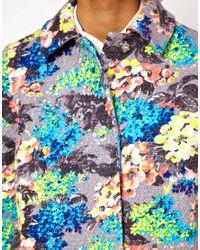 ASOS Collection | Multicolor Asos Floral Printed Coat | Lyst