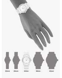 Burberry | Ceramic Check Link Bracelet Watch/white | Lyst