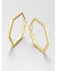 kate spade new york | Metallic Hexagon Hoop Earrings  | Lyst