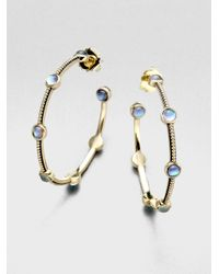 Stephen Dweck | Metallic Textured Motherofpearl Hoop Earrings2 | Lyst