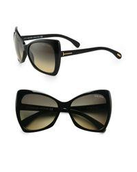 Tom Ford Black Plastic Sunglasses