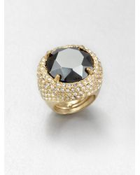 ABS By Allen Schwartz - Metallic Faceted Dome Ring - Lyst