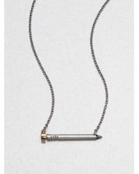 A.L.C. - Metallic Heartshaped Nail Necklace - Lyst