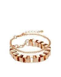 ASOS - Metallic Box Chain Bracelet Pack - Lyst