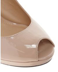 ASOS Natural Asos Pixie Platform Peep Toe Shoes