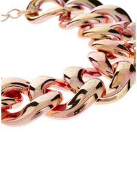 ASOS - Metallic Two Colour Link Bracelet - Lyst