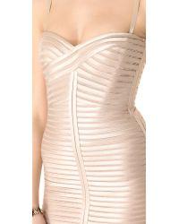 BCBGMAXAZRIA Natural Lilli Woven Dress
