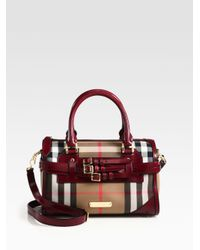 Burberry Brown Alchester Mixedmedia Bridle Satchel