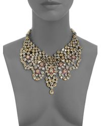 CZ by Kenneth Jay Lane | Metallic Maharani Bib Necklace | Lyst