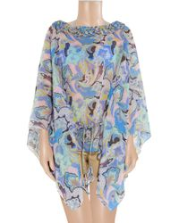 Etro | Blue Rose/Paisley-Print Pareo Coverup | Lyst