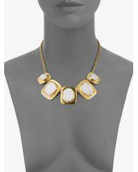 Kara Ross - Metallic Graduated Druzy Quartz Necklace - Lyst