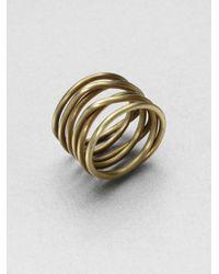 Kelly Wearstler - Metallic Twisted Ring - Lyst