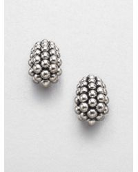 Lagos - Metallic Sterling Silver Caviar Earrings - Lyst