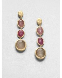 Marco Bicego | Metallic Siviglia Multicolor Sapphire & 18k Yellow Gold Drop Earrings | Lyst