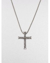 Stephen Webster | Metallic Silver Cross Pendant for Men | Lyst