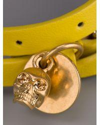 Alexander McQueen - Yellow Buckle Bracelet - Lyst