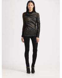 Alexander Wang | Black Asymmetrical Shrink Wrap Top | Lyst