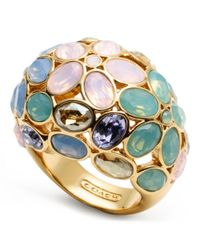COACH - Multicolor Garden Flower Domed Ring - Lyst