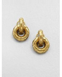 John Hardy | Metallic Door Knocker Earrings | Lyst