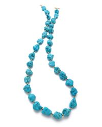 Kenneth Jay Lane - Blue Nugget Necklace - Lyst
