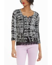 Anthropologie - Black Sketched Scale Cardigan - Lyst